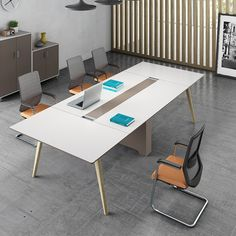 Modern Steel Frame Support Persons Conference Table Hot Sale - 12 seater conference table