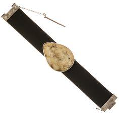 Ezüst és bőr karkötő borostyán kővel Daniel Wellington, Accessories, Jewelry Accessories