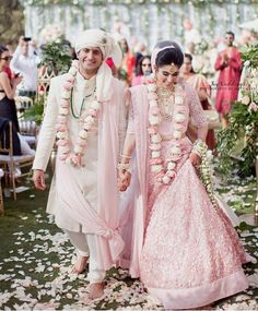 Do you think Only Red Lehenga is for Brides ? Gorgeous brides show how to rock your wedding in a Pink Bridal Lehenga. Indian Bridal Outfits, Indian Bridal Lehenga, Indian Bridal Wear, Bridal Dresses, Couple Wedding Dress, Indian Wedding Couple, Wedding Shot, Indian Weddings, Sikh Wedding