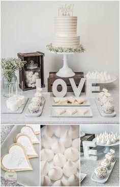 Wedding dessert table.