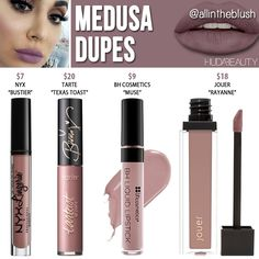 Huda Beauty Medusa Liquid Matte Lipstick Dupe