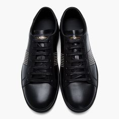 Studded Leather Classic Low-Top Sneakers by Saint Laurent