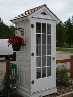 Repurposed doors project - turn old vintage doors into a garden shed, from Sheds, Shacks and Shanties