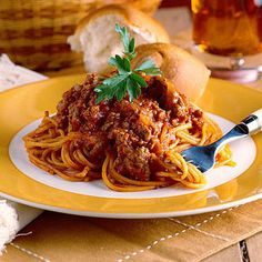 All-In-One Spaghetti - 40 Ground Beef Recipes - Southernliving. Recipe:All-In-One Spaghetti  Only 15 minutes of prep and just one pan to clean makes this homemade pasta sauce labor-light, but it tastes like it was made with a secret recipe handed down in your family for generations. It has the basics: ground beef, onions, and garlic, but also has a hint of sugar for sweetness and a touch of chili powder for spice. That makes everything nice, and you'll think so to as you devour this…