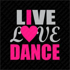 Live Love Dance T-Shirt - I Love Dance - Custom Team School Spirit Pride Shirt - You choose colors! by SpiritStadium on Etsy