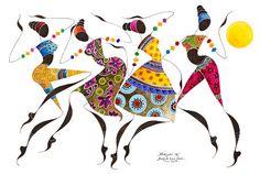 BIKUTSI African Dancers 12x18305cmX 455cm
