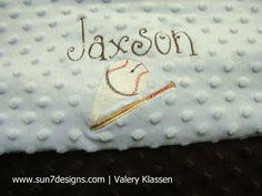 Minkee Baby Blanket  www.sun7designs.com