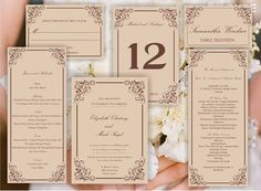 Printable set of  Wedding templates invitation RSVP by Oxee, $25.00