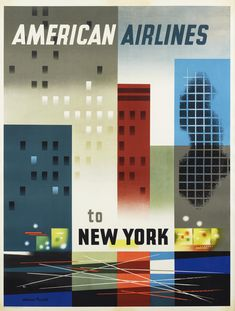 01962-New-york-american-airlines-weimer-pursell-poster-1950-vintage-buildings-lights-city.jpg (4652×6144)