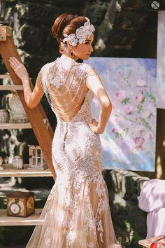 Fashion Friday: Jazel Sy for Bridal Sesh 2014 Tulle Wedding Gown, Wedding Bride, Bridal Gowns, Mermaid Wedding, Taupe Wedding, Gatsby Wedding, Wedding Ideas, Backless Wedding, Wedding Inspiration