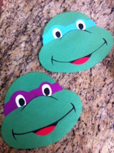 Teenage Mutant Ninja Turtle Cards - Homemade w construction paper