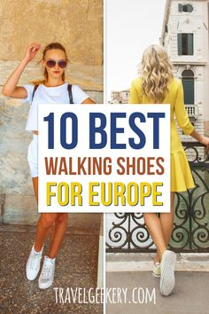 Best Walking Shoes for Europe: See my pick of 10 best travel shoes for Europe for all seasons (summer, autumn, winter, spring) and all travel styles. Walking shoes for travel that are comfortable, cute, fashionable, even dressy. From sandals to boots. Walking shoes for Europe travel, especially for women.  #shoes #travelshoes #europe #walkingshoes #traveltip #travelgeekery #europetravel #traveleurope Best Shoes For Travel, Best Travel Gifts, Travel Shoes, Packing Tips For Vacation, Packing Lists, European Travel Tips, Travel Snacks, Best Walking Shoes, Different Styles