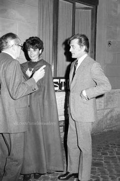 Timeless Audrey Hepburn and Kirk Douglas,: Photo