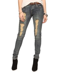Unique  Women Ripped Skinny Jeans Jeans Women Blue Jeans Stylish Jeans Women S