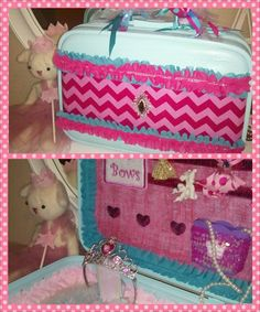 Old Suitcase made in to a dress up kit