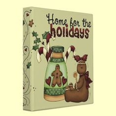 Cute Holiday Recipe Binder  Look for matching recipe sheets!  What a sweet way to keep all your favorite Christmas recipes. Think of what a great gift a book of recipes would be! Dessert Recipe book cute and ready to hold your treasures!