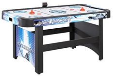 Hathaway Face-Off Air Hockey Game Table for Family Game Rooms with Electronic Scoring, Free Pucks & Strikers Be sure to check out this awesome product. (This is an affiliate link) Air Hockey Games, Intense Games, Indoor Games, Face Off, Table Games, Family Games, No Equipment Workout, Man Cave