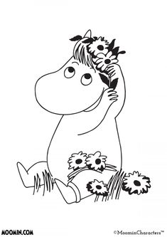 Troll, Moomin Tattoo, Moomin Valley, Tove Jansson, Tumblr Backgrounds, Easy Drawings, Cute Art, Vector Art, Embroidery Patterns