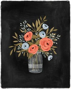 simply-divine-creation:  Ranunculus » Illustration by Kelli...