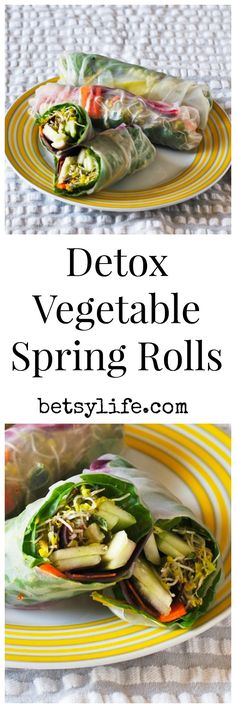 Did you overindulge this holiday weekend? These vegetable spring rolls will help get you back on track.