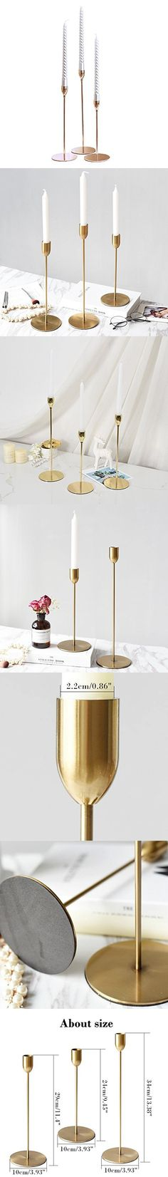 2 PCS Candle Holders for Candlesticks Christmas Iron Candle Holders Stand Candle Holder Vintage for Pillar Candles Candle Holders for Long Candles for Living Room//Dinning Room Table Decoration 3.1