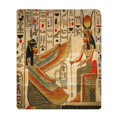 Personalized Egyptian Theme Plush Fleece Blanket  Art by redbeauty