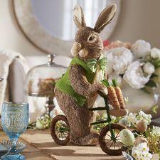Natural Bunny on Bike