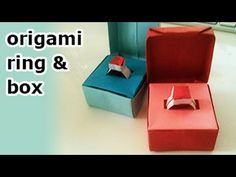 Origami Box + Lid + Ring - Valentines Day