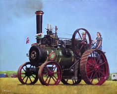 Steam Engines For Sale | and Jefferies General Purpose Engine Painting - steam traction engine ...