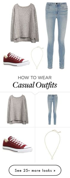 """""""Casual days☕️"""" by powelson-gabriella on Polyvore featuring Alexander Wang, Converse and Kendra Scott"""