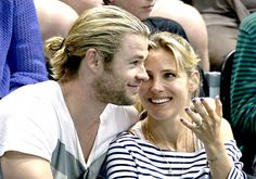Cute couple Chris Hemsworth and wife Elsa Pataky