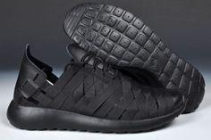 cheap for discount a930e f7bf5 5FWW Nike Roshe Run Gewebt Herren Schuhe Schwarz Runen, Schwarz, Nike  Store, Nike