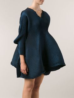 Issey miyake Accordion Pleat Dress in Blue | Lyst
