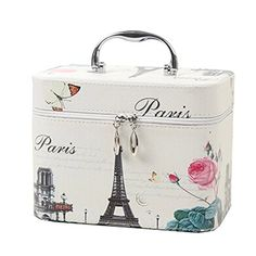 Creative Cosmetic Box Makeup Box Large Capacity Makeup Bags, Paris ** Click on the image for additional details.