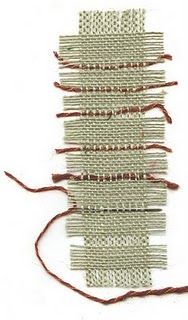 burlap weaving bookmarks