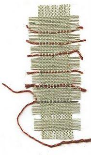 burlap weaving bookmarks