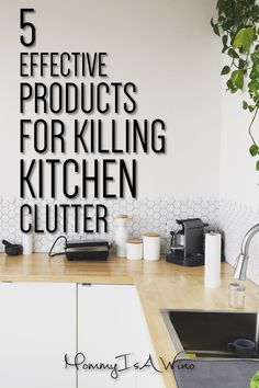 Declutter Kitchen Cabinets - Kitchen Organization - Organized Kitchen - 5 Effective Products For Killing Kitchen Clutter - Get an Organized Kitchen with These Products #organized #declutter #clean #organization #kitchen #organizedkitchen #organize #clutter