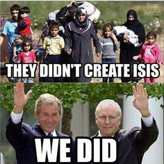 ISIS is a CIA/Mossad creation. Blaming helpless women & children is disgusting.