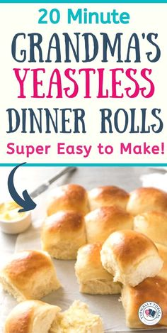 These restaurant-style quick and easy dinner rolls are the perfect side dish for pasta, chilli or any other family meal for that matter! Quick and super easy to Dinner Rolls Easy, Sweet Dinner Rolls, No Yeast Dinner Rolls, Dinner Rolls Recipe, Gluten Free Dinner Rolls, Recipes Dinner, Easy Homemade Rolls, Easy Yeast Rolls, Homemade Dinner Rolls