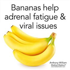 Bananas help adrenal fatigue viral issues Learn more about the healing powers of bananas in Life-Changing Foods Nutrition Tips, Health And Nutrition, Health And Wellness, Health Foods, Health Care, Fruit Benefits, Health Benefits Of Bananas, Banana Benefits, Hypothyroidism Diet
