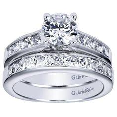 ENGAGEMENT - 1.75cttw Princess Cut Channel Set Diamond Engagement Ring