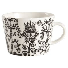black & white coffee cup