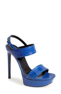 Saint Laurent 'Bianca' Leather Platform Sandal (Women) available at #Nordstrom