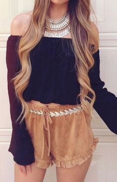 Suede Solid Ruffle Shorts