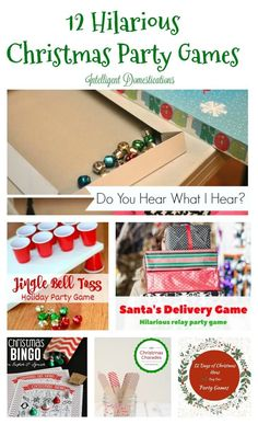 DEC 17 CHRISTMAS GAMES DAY If you are looking for creative ways to have fun this Christmas season here's 12 hilarious Christmas party games that the whole family is sure to love! Funny Christmas Party Games, Xmas Games, Christmas Bingo, Holiday Party Games, Noel Christmas, 12 Days Of Christmas, Christmas Activities, Christmas Traditions, Christmas Humor