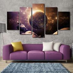 Planet Of The Universe Wall Art - 5 Piece Canvas