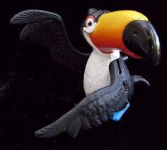 Rio Toucan Rafael Bird Toy Action Figure Cake Topper McDonald's 2011 #Fox