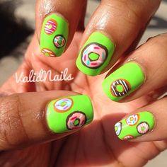 DONUTS by validnails #nail #nails #nailart