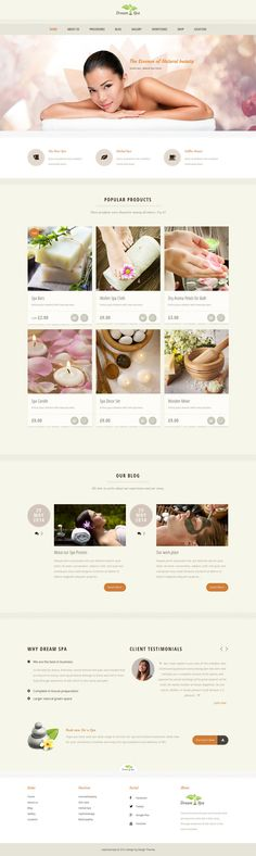 Theme comes with the complete package of templates, widgets, short-codes, custom posts to showcase your treatments / Services, Emphasis your packages and offers, Sell your products and course materials, Spread News, Showcase the galley and more…