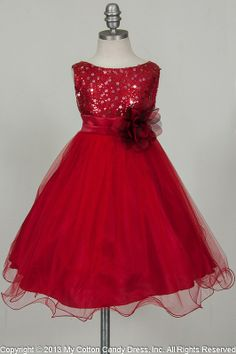 RED flower girl dresses | Style Number : 305-RED